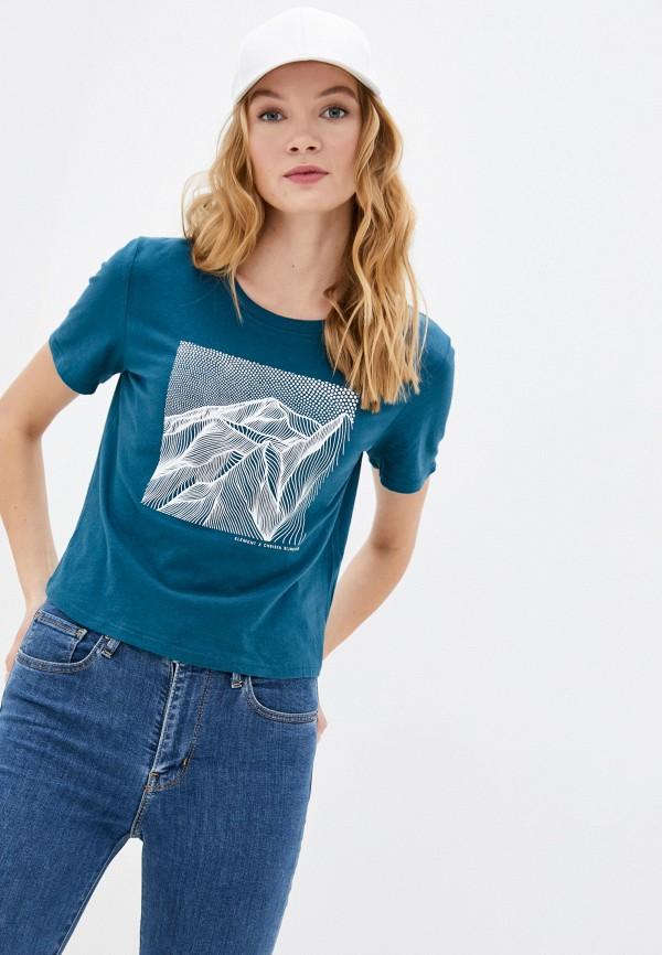 женская спортивные футболка element, бирюзовая