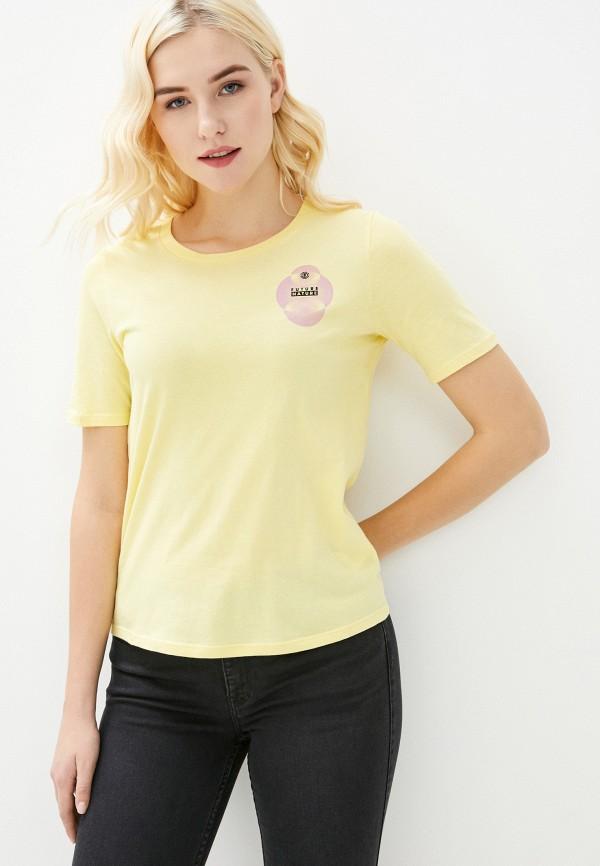 женская спортивные футболка element, желтая