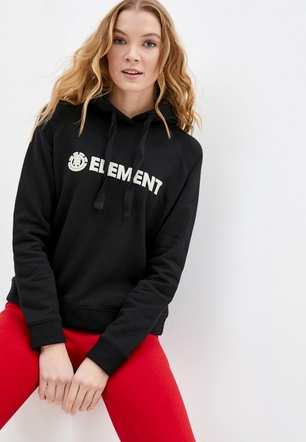 женский свитшот element, черный