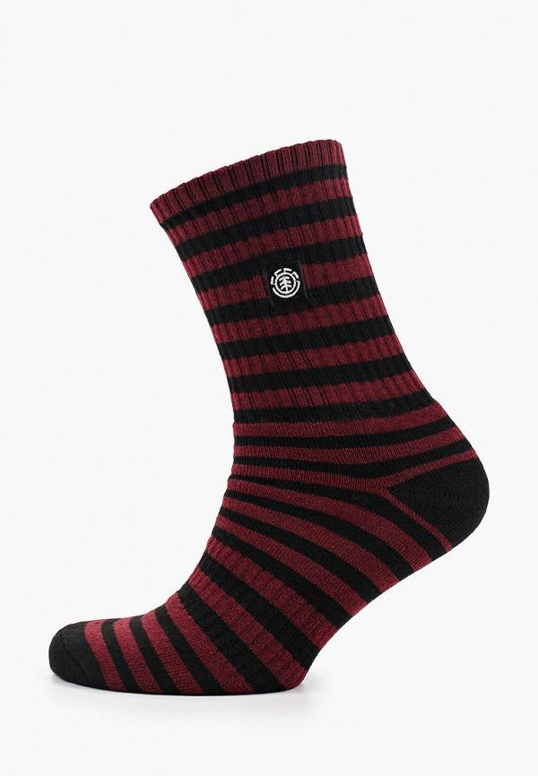мужские носки element, бордовые