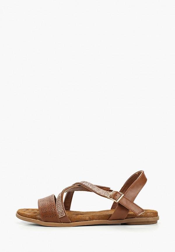 женские сандалии ella, коричневые
