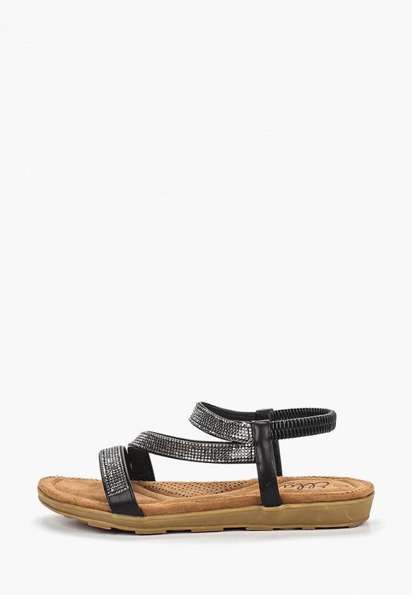 Фото - женские сандали Ella черного цвета