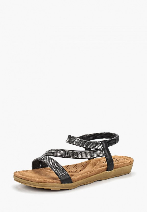 Фото 2 - женские сандали Ella черного цвета