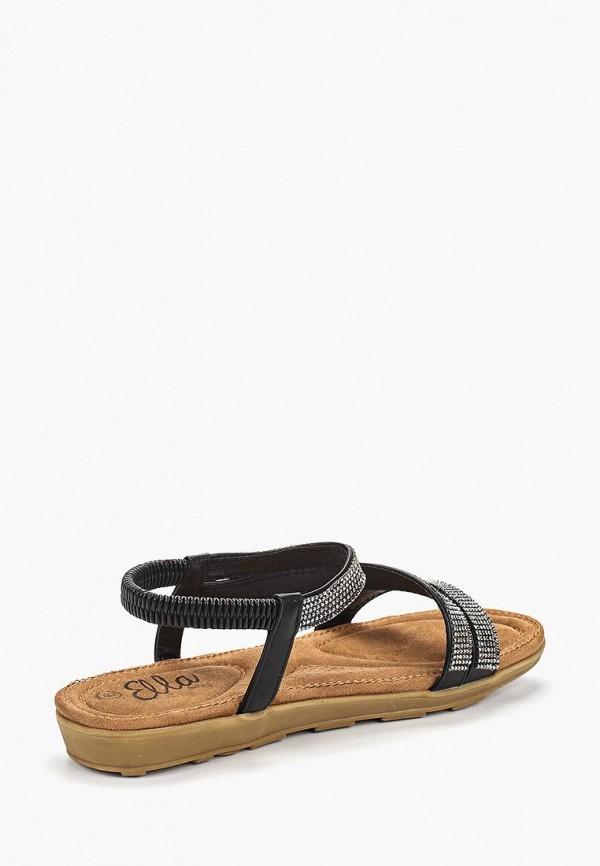 Фото 3 - женские сандали Ella черного цвета