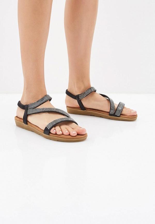 Фото 6 - женские сандали Ella черного цвета