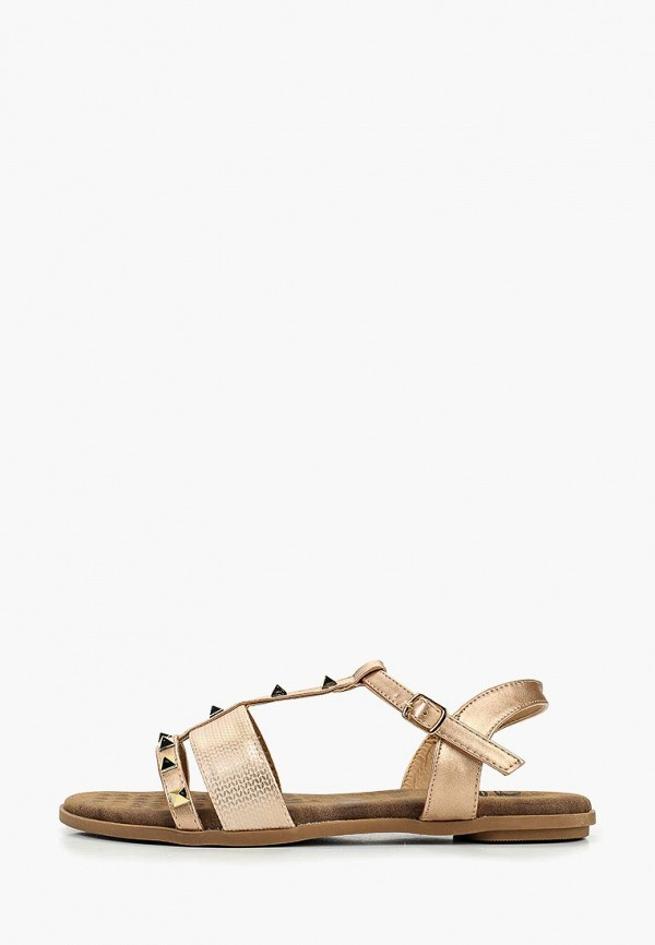 женские сандалии ella, золотые