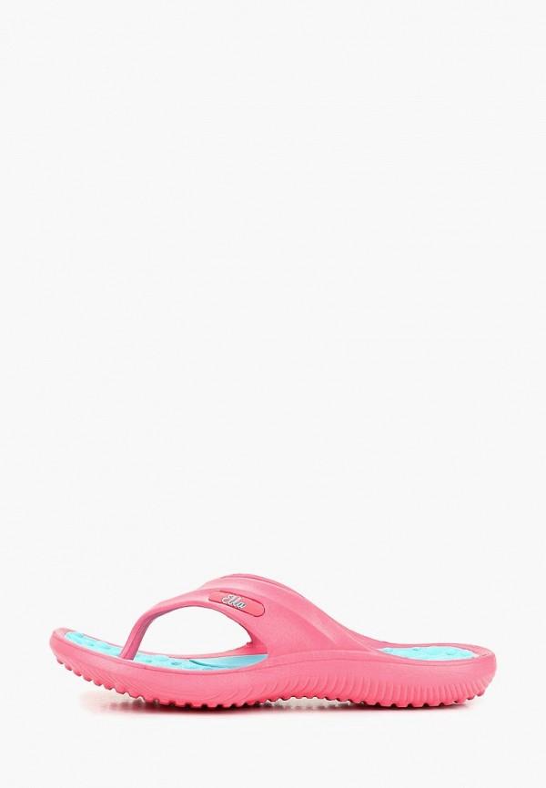 женские сланцы ella, розовые