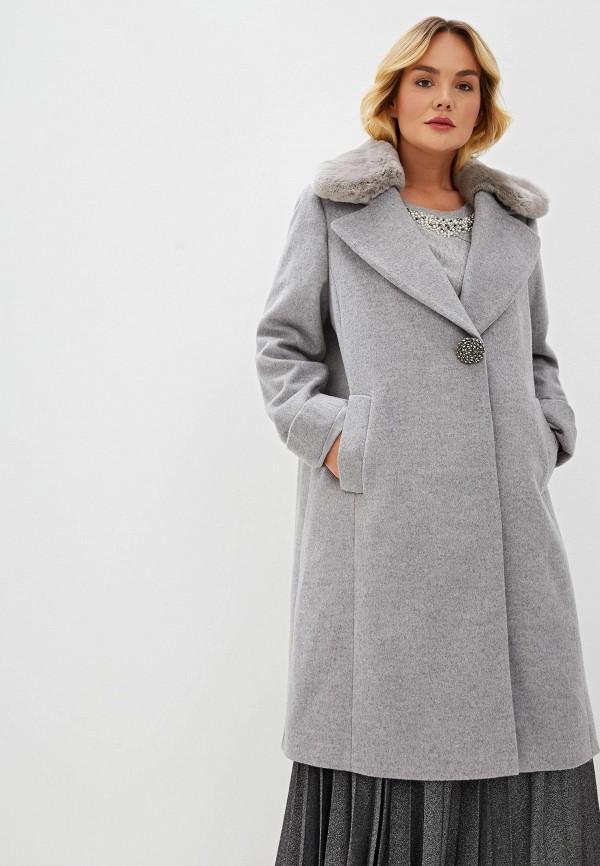 женское пальто elena miro, серое