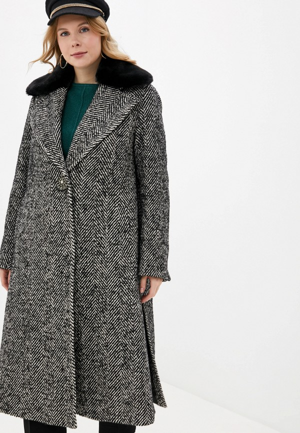 женское пальто elena miro, черное