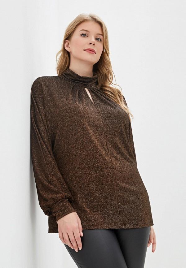 женская блузка elena miro, коричневая