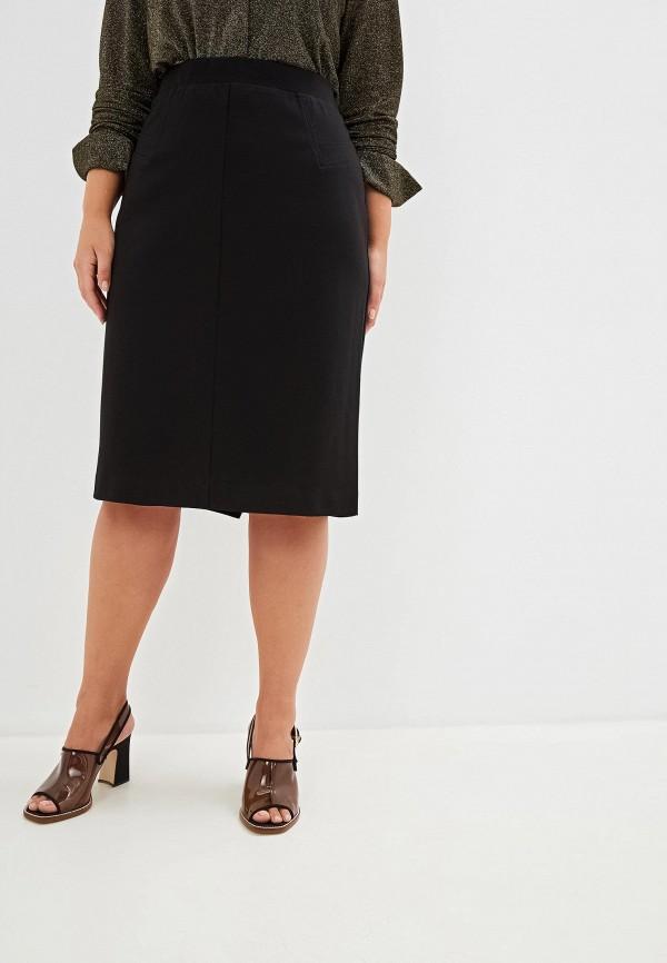 женская прямые юбка elena miro, черная