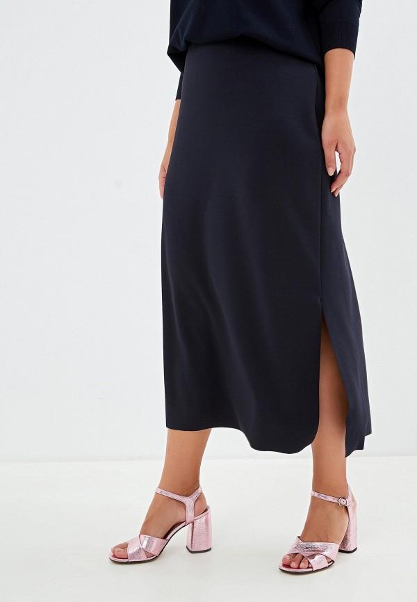 женская прямые юбка elena miro, синяя