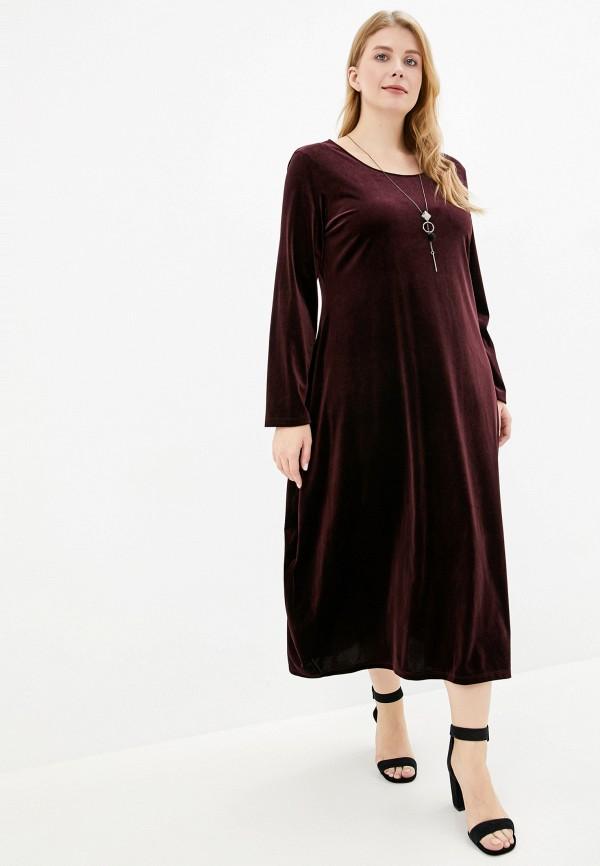 женское повседневные платье elena miro, бордовое