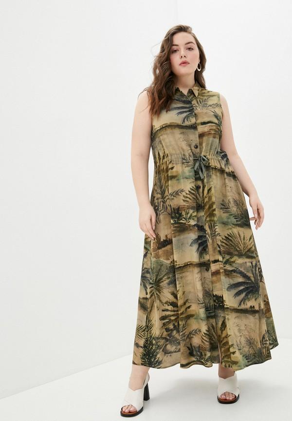 женское повседневные платье elena miro, хаки