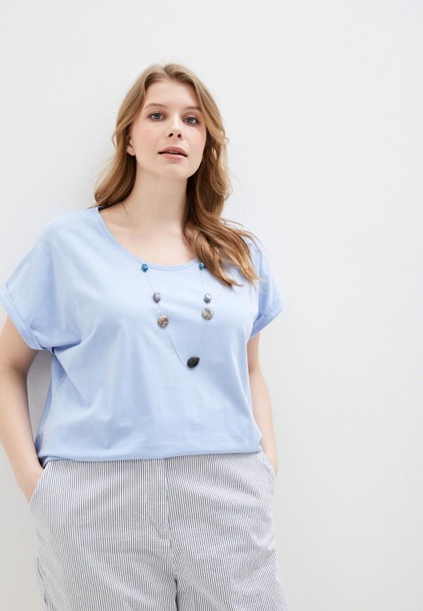 женская футболка elena miro, голубая