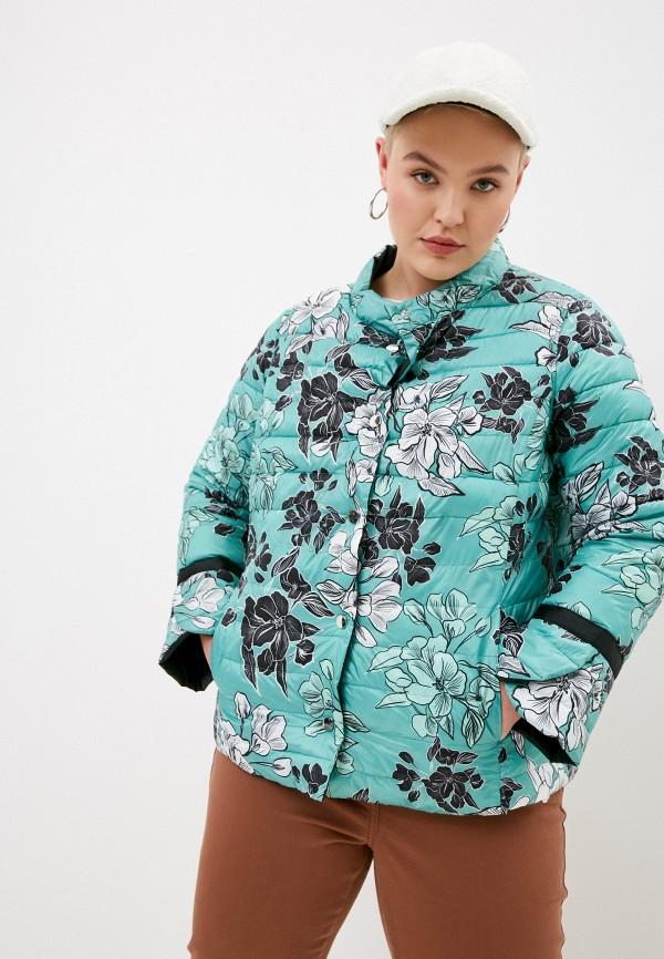 женская куртка elena miro, бирюзовая