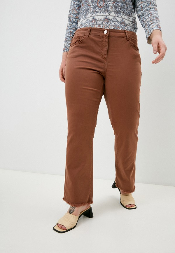 женские прямые брюки elena miro, коричневые