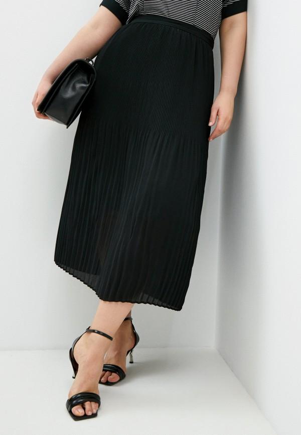 женская плиссированные юбка elena miro, черная