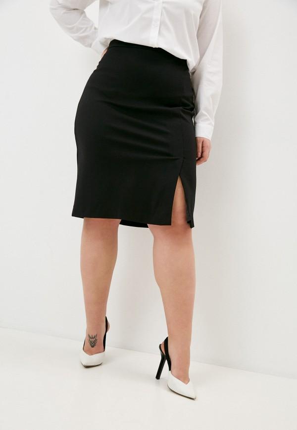 женская узкие юбка elena miro, черная