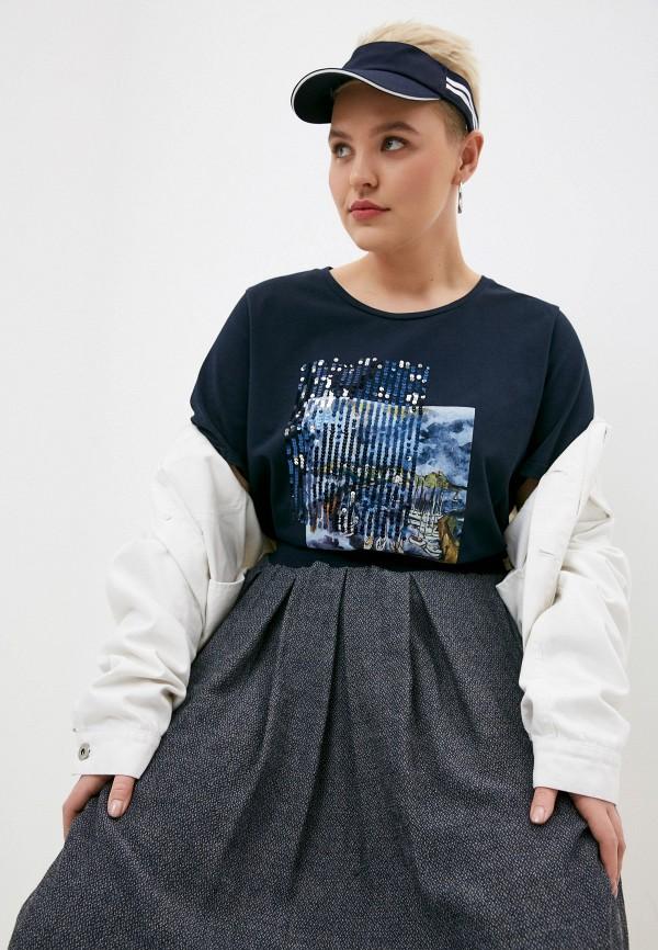 женская футболка elena miro, синяя