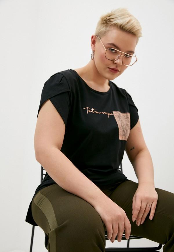 женская футболка elena miro, черная