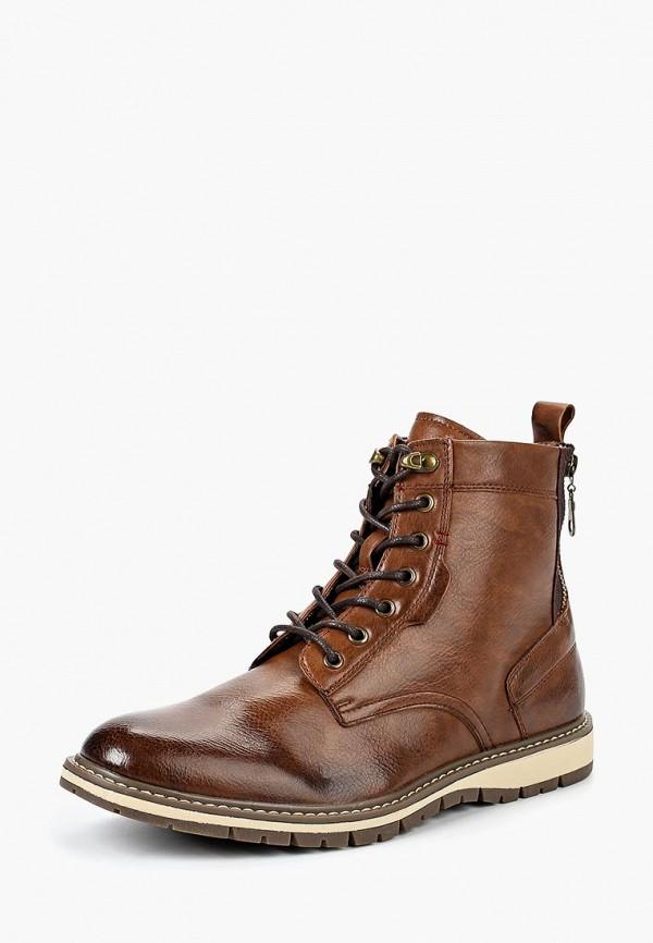мужские высокие ботинки elong, коричневые