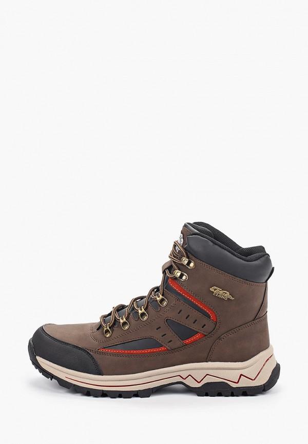 мужские ботинки elong, коричневые