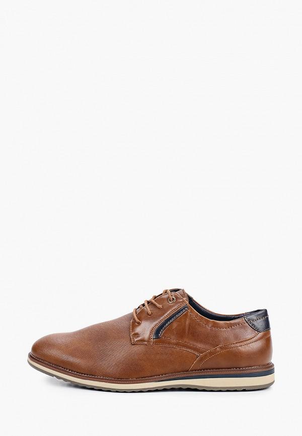 мужские туфли elong, коричневые