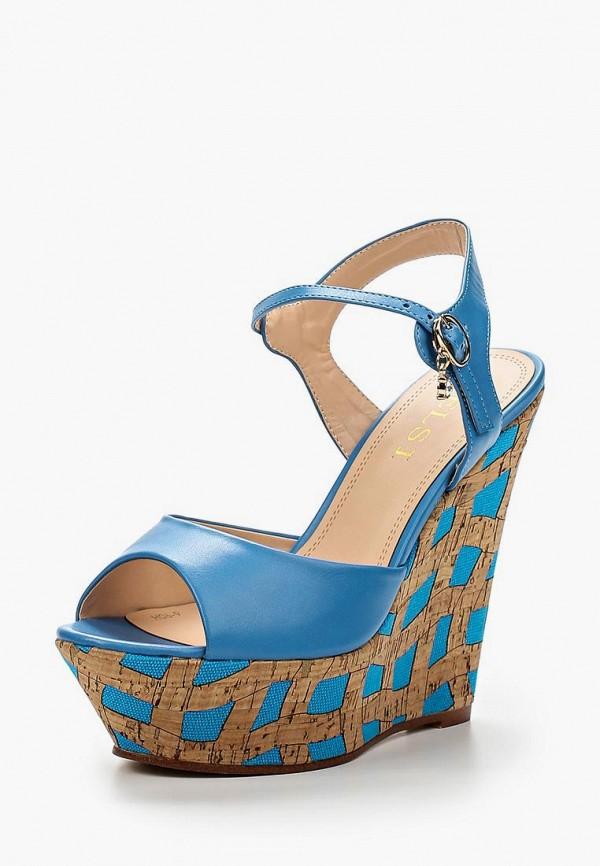 женские босоножки elsi, голубые