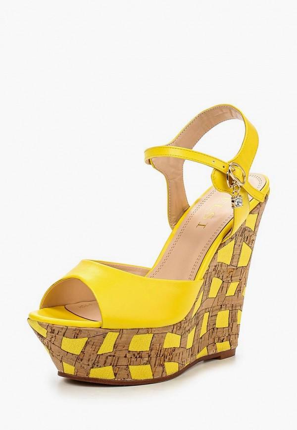 женские босоножки elsi, желтые