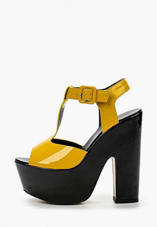 Фото 2 - женские босоножки Elsi желтого цвета