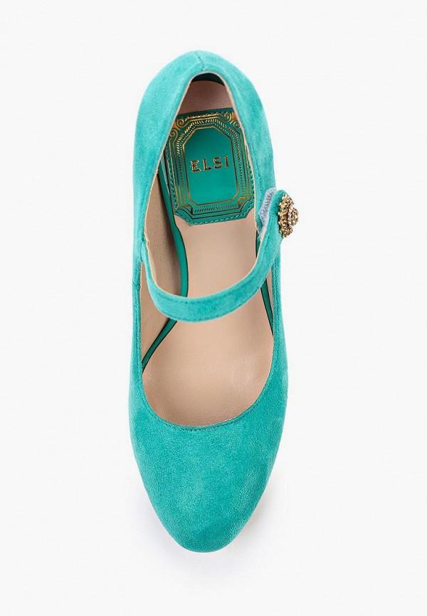 Фото 4 - женские туфли Elsi бирюзового цвета