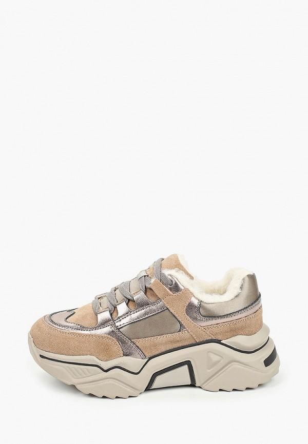 женские кроссовки elsi, бежевые