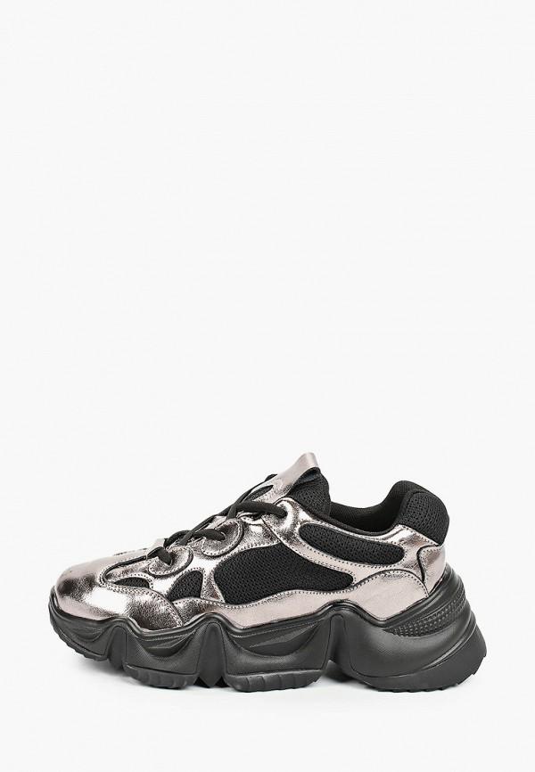 женские кроссовки elsi, серебряные