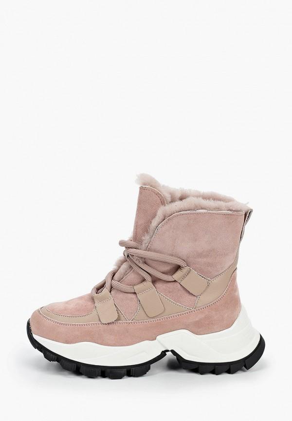 женские ботинки elsi, розовые