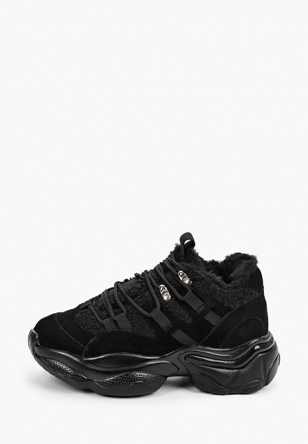 женские кроссовки elsi, черные