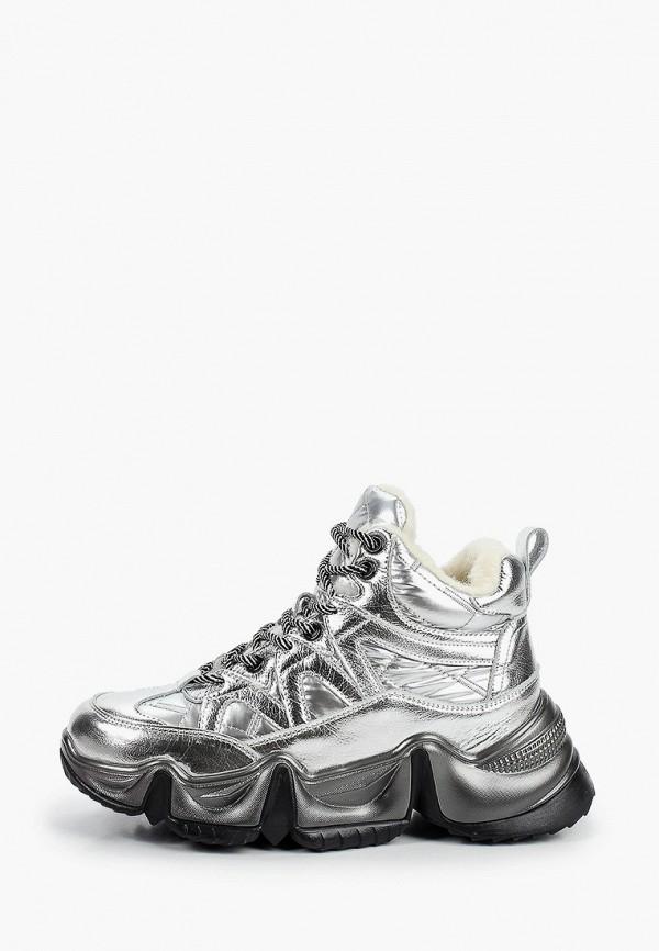 женские ботинки elsi, серебряные
