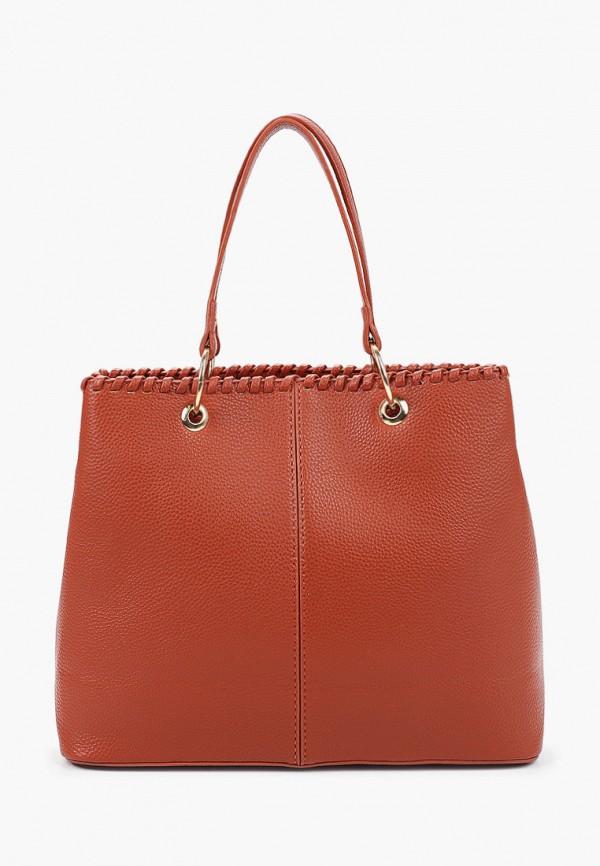 женская сумка с ручками elsi, оранжевая