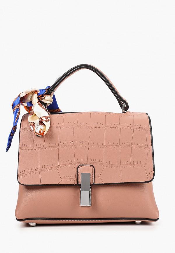 женская сумка с ручками elsi, розовая