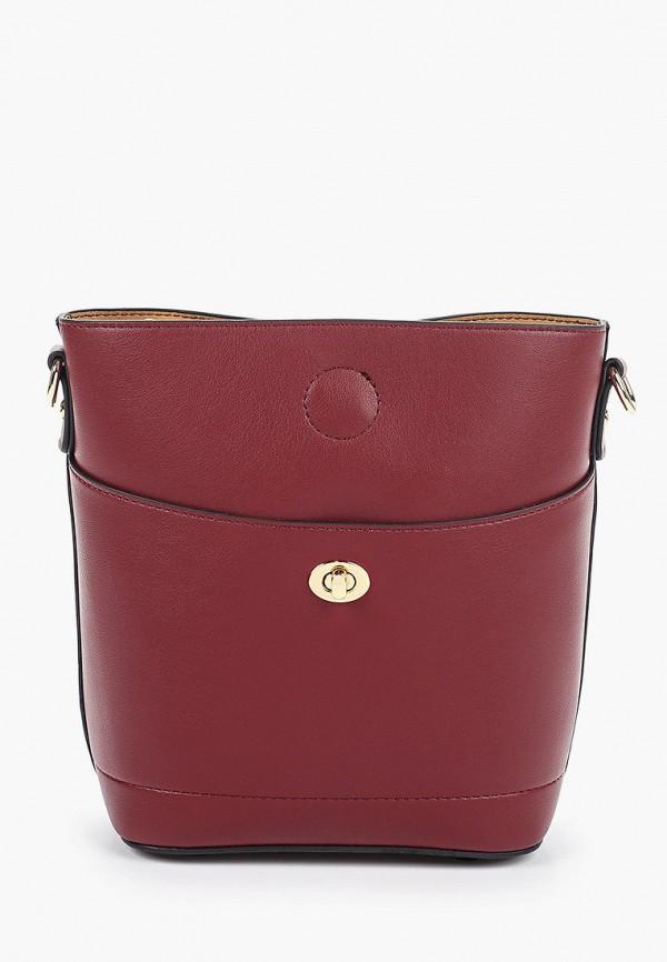 женская сумка через плечо elsi, бордовая