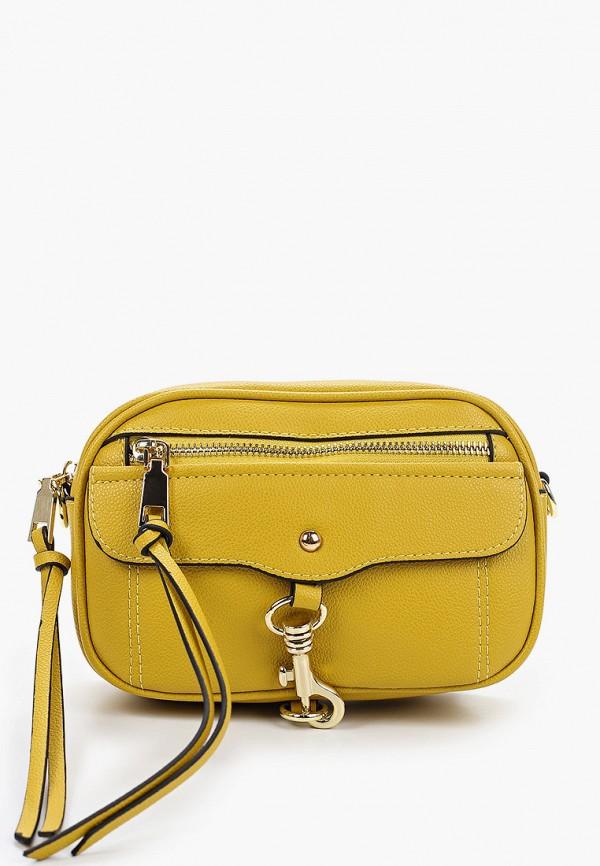 женская сумка через плечо elsi, желтая