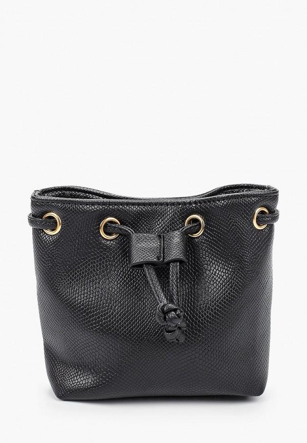 женская сумка-ведро elsi, черная