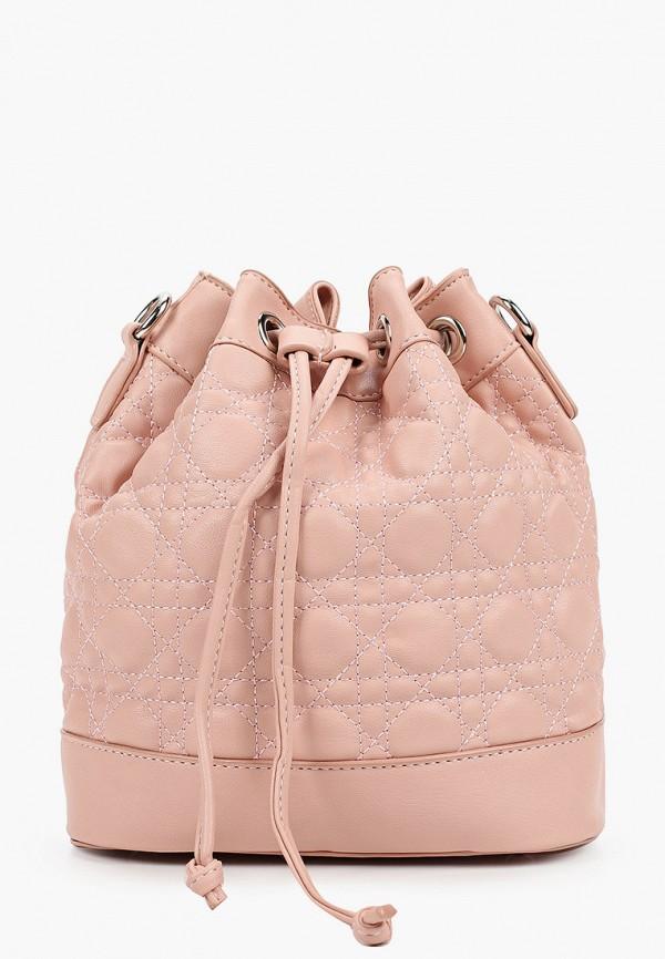 женская сумка-ведро elsi, розовая