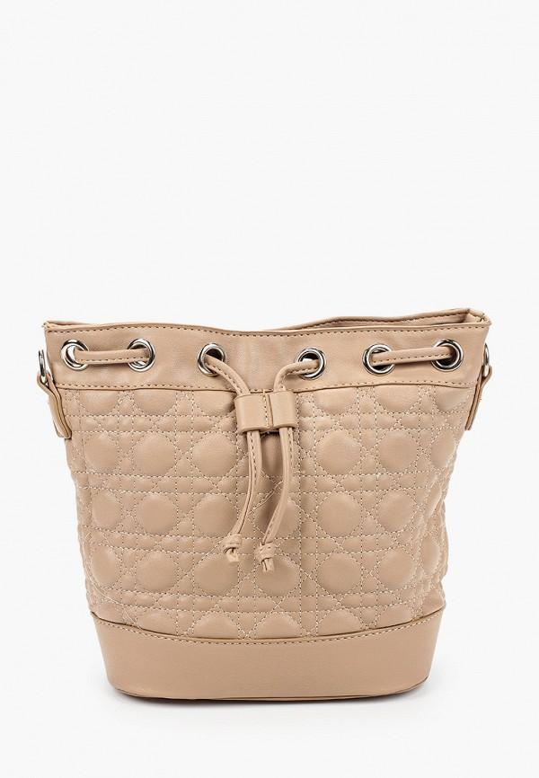 женская сумка elsi, бежевая