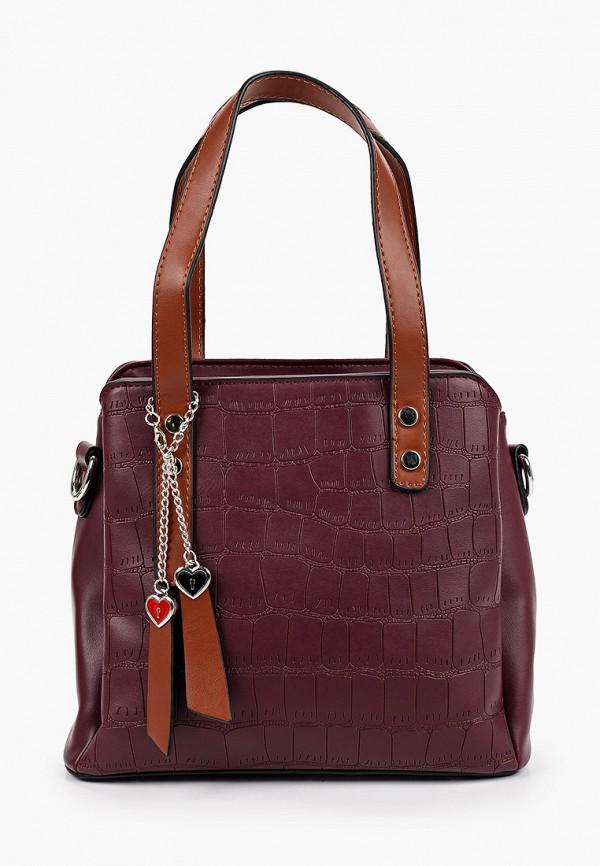 женская сумка с ручками elsi, фиолетовая