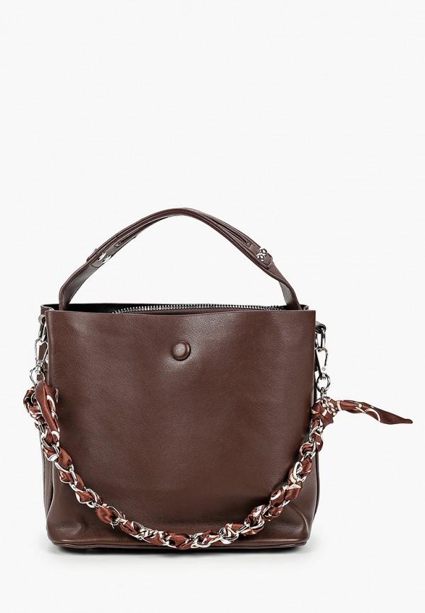 женская сумка elsi, коричневая