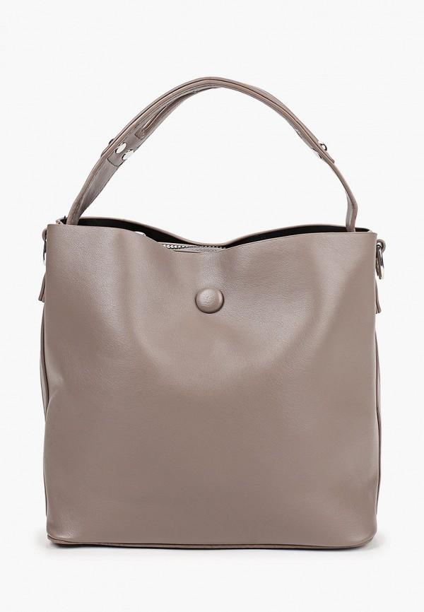 женская сумка через плечо elsi, серая