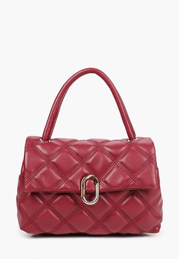 женская сумка с ручками elsi, красная