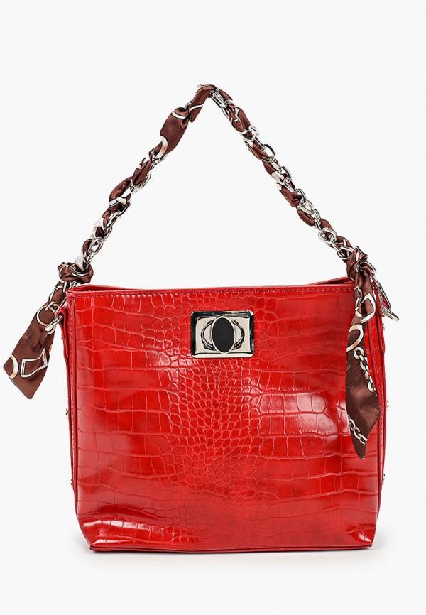 женская сумка через плечо elsi, красная