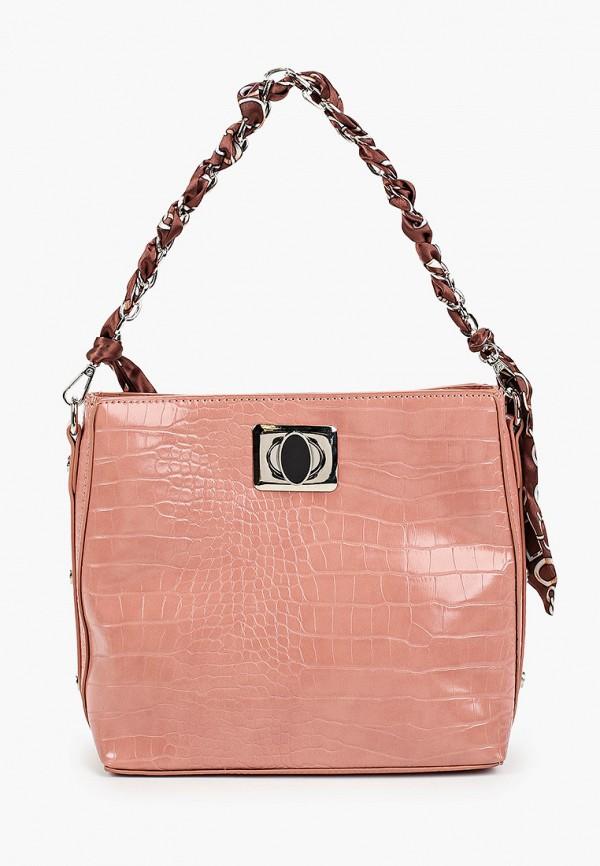 женская сумка через плечо elsi, розовая